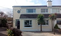 Front view of a semi detached home in Dalkey, Dublin.